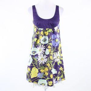 Rebecca Taylor purple yellow empire waist dress 4